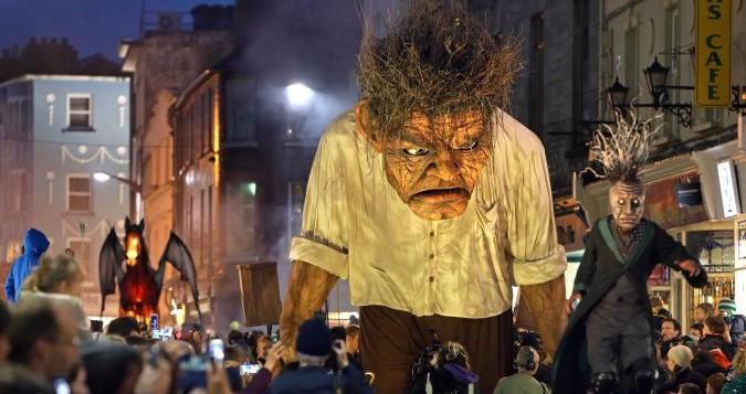 The Macnas Halloween parade: cash crisis puts future in doubt.